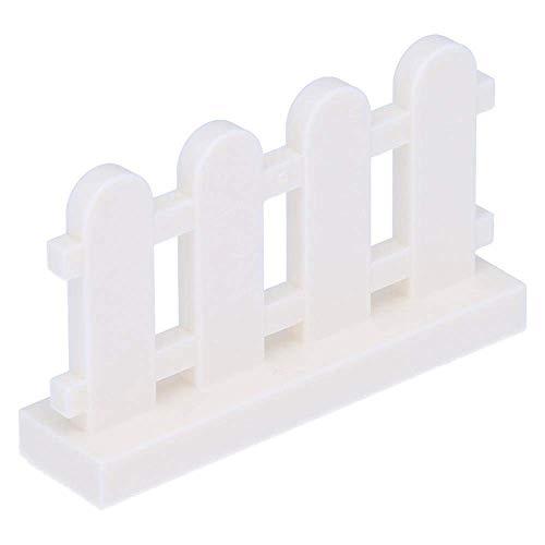 LEGO 10 x Zaun 1 x 4 x 2 geweiselt (Palisade) Weiß