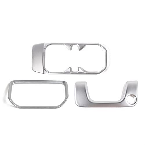 ZIHAN Feil Store Interior del automóvil 4-DW Gear Mayúscula Panel Frontal Copa Delantera Caja de la Cerradura Pegatina de Ajuste Ajuste para Jeep Wrangler JL 2018-2019 (Color Name : Silver)