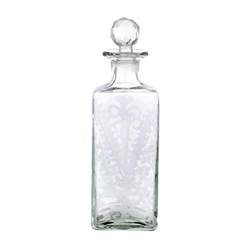Blanc Mariclo - Botella decorativa con tapón Aida de cristal transparente, 26,5 cm de altura, A27122
