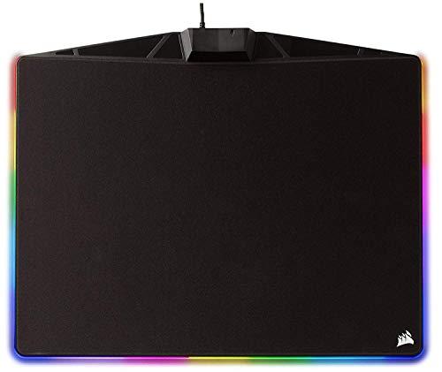 Corsair MM800 Polaris RGB Gaming Mauspad (Medium, RGB 15 Zonen Beleuchtung, Harte Oberfläche) schwarz (Generalüberholt)