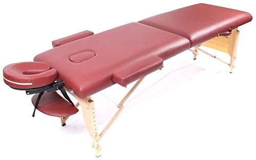 Mr.T/Beauty Bed Folding Massage Bed, Memory Foam Draagbare Schoonheid Bed Fysiotherapie Massage Bed Massage Tafel Schoonheidsbehandeling schoonheidsbed (Kleur : Rode Wijn)