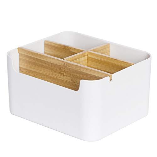 Holz Desktop Stift,Holz Desktop Fernbedienungshalter,Holz Desktop Organizer,Desktop Stationery Storage Box,Bambus Tisch Organizer,Schreibtisch Organizer,Desktop Mehrzweck Aufbewahrungsbox,5 fächer