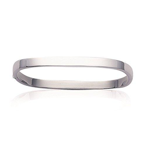 Armband aus Silber, Damen– Länge: 59mm/Breite: 51mm –Silber 925/000(quadratisch/Armreif/starr)