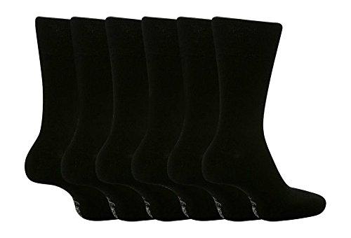 Gentle GripHerren Socken, Einfarbig Schwarz Schwarz