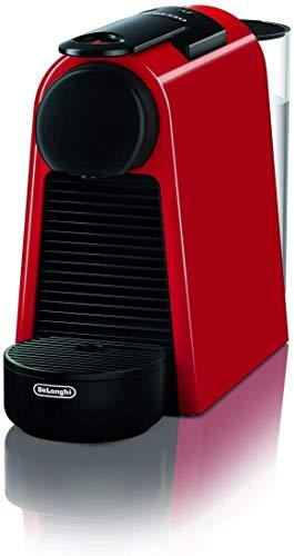 De'Longhi Nespresso Essenza Mini EN 85.R Kaffeekapselmaschine, Welcome Set mit Kapseln in unterschiedlichen Geschmacksrichtungen, 19 bar Pumpendruck, Platzsparend, Rot
