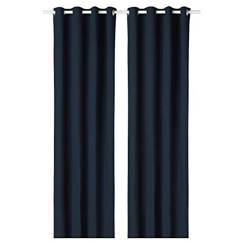 MBI Raum-Verdunkelungsvorhänge, 1 Paar, blau, Größe zusammengebaut: Länge: 250 cm, Breite: 145 cm, Gewicht: 2,30 kg