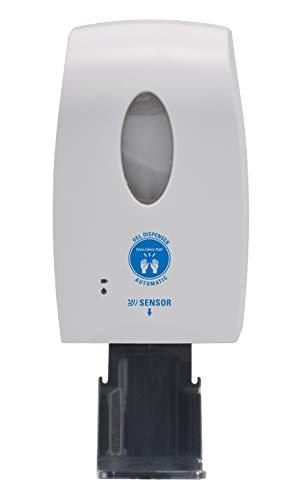 Dispenser Automatico TLT con fotocellula infrarossi per Gel igienizzante amuchina - da parete muro o colonnina, Contiene fino a 1 litro di gel, con Salvagoccia, Carta Adesiva e Mini Imbuto in omaggio