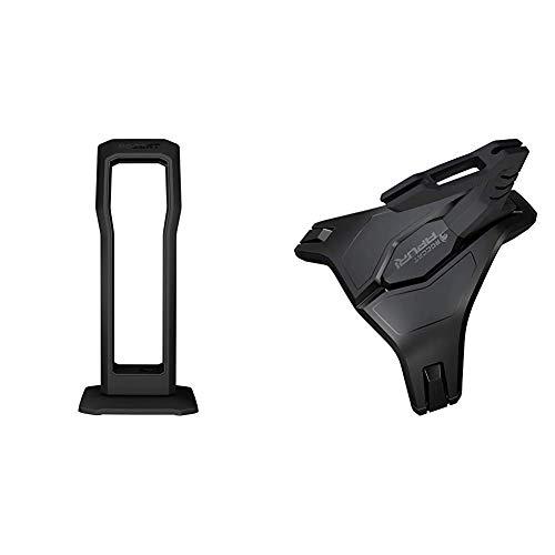 Roccat Modulok Vollmodularer Kopfhörer und Headset Halter schwarz & Apuri Raw - Gaming Maus Bungee mit Zero Drag, Stabilität durch Gewichte und Gummifüße, einfaches Kabelmanagement, schwarz
