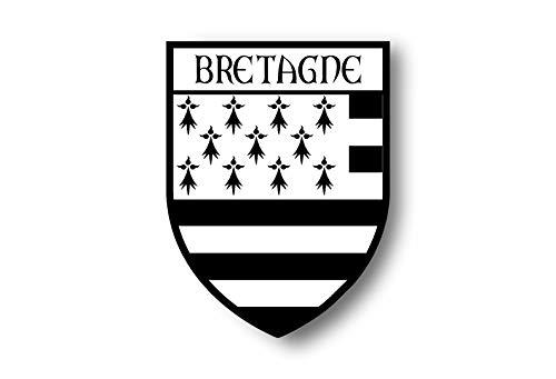 Akachafactory Aufkleber Sticker autoaufkleber Wappen Flagge flaggen Fahne bretahne bretonisch