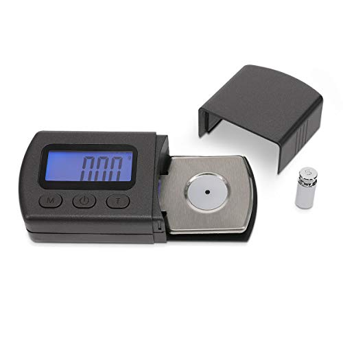 kwmobile Digitale Tonarmwaage für Plattenspieler Tonabnehmer - hohe Genauigkeit dank 0,01g Abstufung - Schallplatten Tonabnehmerwaage - mit Batterien