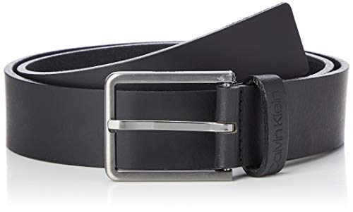 Calvin Klein 35mm Essential Belt Cintura, Nero (Black BAX), 7 (Taglia Produttore: 105) Uomo