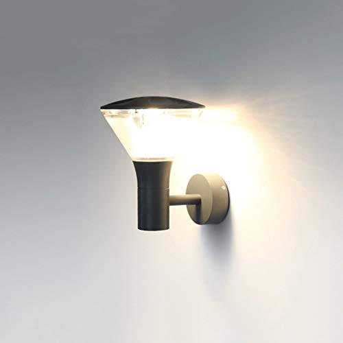 UWY Nordic Creative Outdoor IP65 Lámpara de Pared Impermeable Luz de Pared Externa de acrílico de Aluminio Gris Europeo para Patio Jardín Pasillo Pasillo Balcón Vista Aplique de Pared Linterna