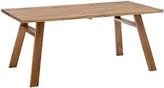 Tousmesmeubles Table de Repas rectangulaire Bois - RUSSU - L 180 x l 90 x H 77 - Neuf