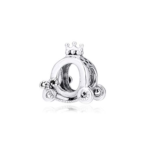 Polished Crown O Charms 925 Original Fit Pandora Bracelet Sterling Silver Charm Beads For Jewelry Making Jewellery