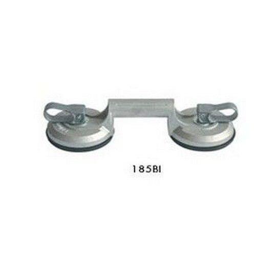 Zuignap voor dubbele tegels voor professioneel gebruik, gemaakt van gegoten aluminium, met metalen inzetstuk, capaciteit 90 kg