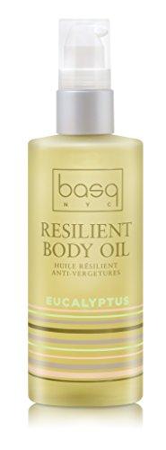 Basq Skin Care Resilient Body Stretch Mark Oil, Eucalyptus, 4 Fluid Ounce