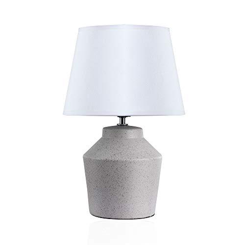 Pauleen Glowing Pearl Tafellamp, max. 20W tafellamp voor E27 lampen bedlampje lichtgrijs wit 230V keramiek/stof zonder lamp 48017