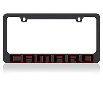 Eurosport Daytona- Compatible with - 2018 Chevrolet Camaro - Black License Plate Frame