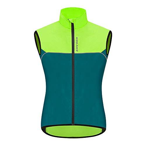 WOSAWE Gilet da ciclismo da uomo Leggero e traspirante all'aperto Corsa senza maniche Giacche per il tempo libero Abbigliamento sportivo(Marina Militare XL)