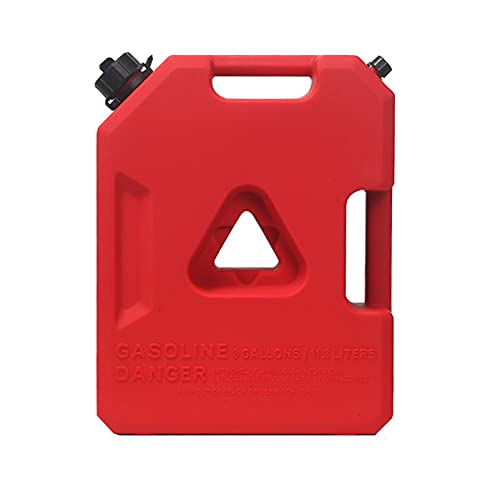 Recipientes para gasolina Tanque de combustible de gasolina rojo, contenedor de gasolina, tanque de almacenamiento de combustible de gasolina de respaldo para motocicleta, SUV, ATV, la mayoría de lo
