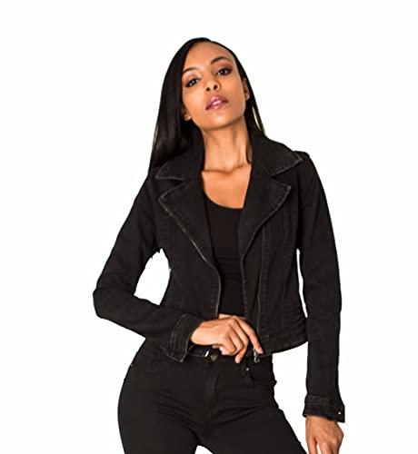 Nina Carter Tipo: chaqueta vaquera S389 para mujer. Negro (S389-1) XXL