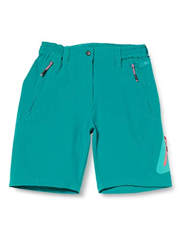 CMP Stretch Bermuda Shorts with Button Femme, Lake, 48