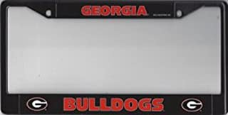 Georgia Bulldogs Black License Plate Frame Free Screw Caps with this Frame