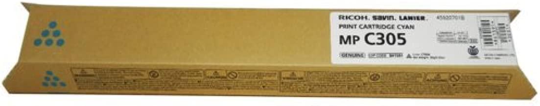 Ricoh Cyan Toner Cartridge, 4000 Yield (841591)