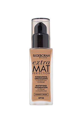 Deborah Milano Fondotinta Extra mat perfection 30 ml 36 g Bouteille Liquide – Base de Maquillage (beige, Amber, femmes, bouteille, liquide, 30 ml)
