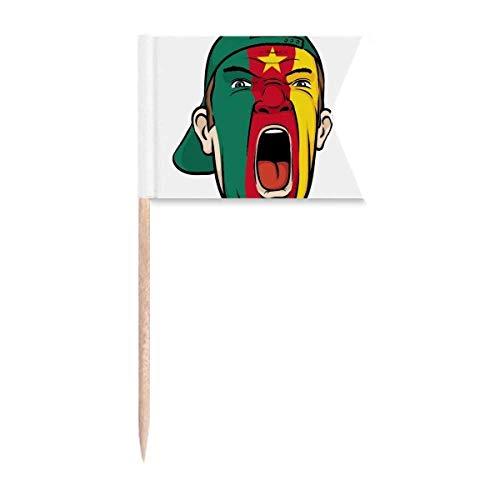 Beauty Gift Kappe mit der kamerunischen Flagge Markierung für die Kennzeichnung von Zahnstocher-Flaggen