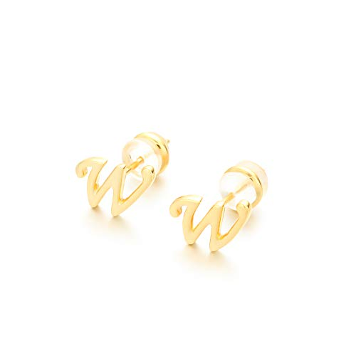 Pendientes de lujo para mujer y niña, diseño de letra de la A a la Z, chapado en oro de 18 quilates