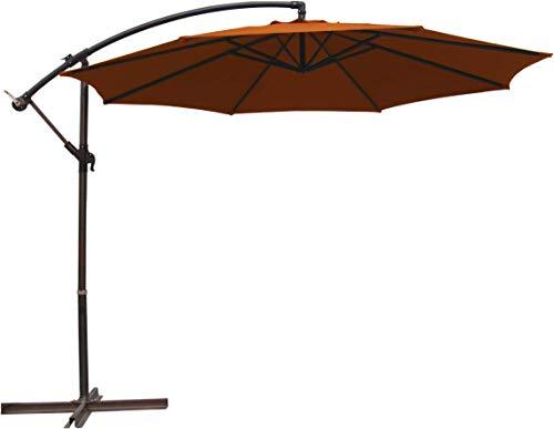 TrendLine Ampelschirm Ø 300 cm Terracotta Sonnenschirm Kurbelschirm Schirm