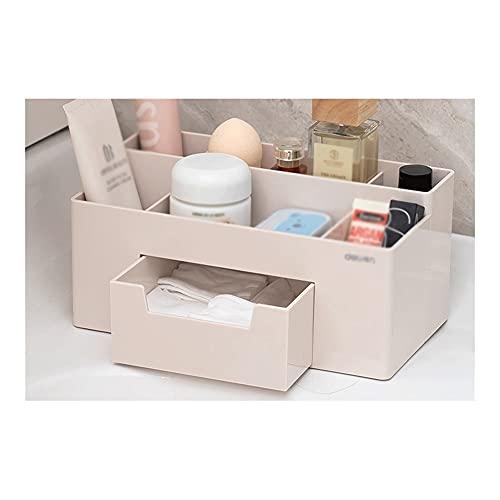 FXJ Organizador de Escritorio de Oficina Creativo, con cajón, Almacenamiento de Escritorio, Porta y lápiz para el hogar y la Oficina (Color : Gris, tamaño : 8.8X4.8X4inch)
