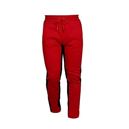 Pantalones de Jogging para Hombre Pantalones Casuales de Rayas Laterales de Moda con cordón y Bolsillos Pantalones Deportivos para Correr X-Large