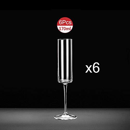 Kristall Champagner Gläser Becher Glas Tasse Set Trinkgläser Tassen Rotweinglas Bar Hotel Party Drinkware Hochzeit Flöten-6 Stück