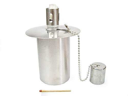Öllampe Einsatz - Ölbehälter Gartenfackel - aus Edelstahl - ca. 115 CCM Inhalt - EIN Qualitätsprodukt von Hannas Laden