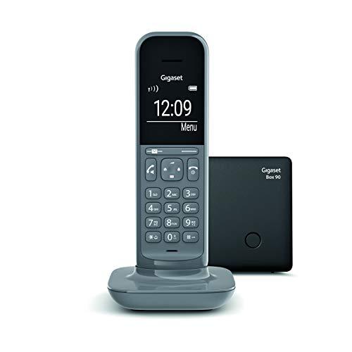 Gigaset CL390 - Teléfono fijo inalámbrico para casa, pantalla iluminada, agenda 150 contactos, gris