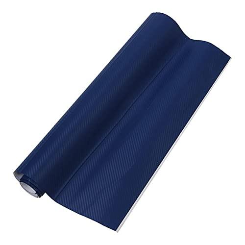 HMEILI 50 * 127cm Fibra de Carbono 3D Vinyl Wrap Wrap Wrap Roll Pegatina Pegatina Calcomanía Azul (Color Name : Blue)