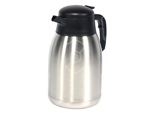 Bartscher Isolierkanne 2l für Kaffeemaschine Contessa 1002, Aurora 20 Ersatzkanne aus Edelstahl mit 2 Liter Volumen für Bartscher Kaffeemaschinen