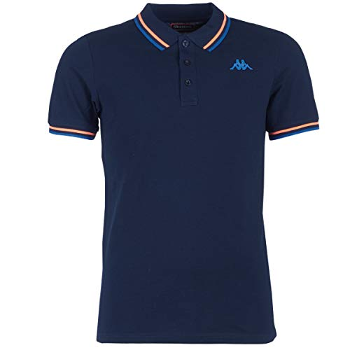 Kappa ESMANO T-Shirts & Poloshirts Herren Marine/Rot - XL - Polohemden