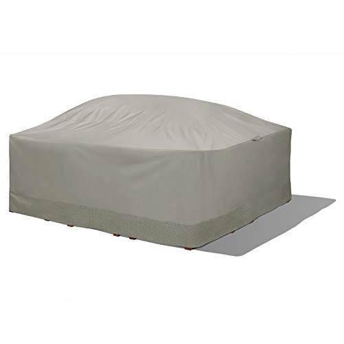 Duck Covers WTS09292 Weekend Water-Resistant 90 Inch Square Integrated Duck Dome, Moon Rock Outdoor Table & Chair Cover
