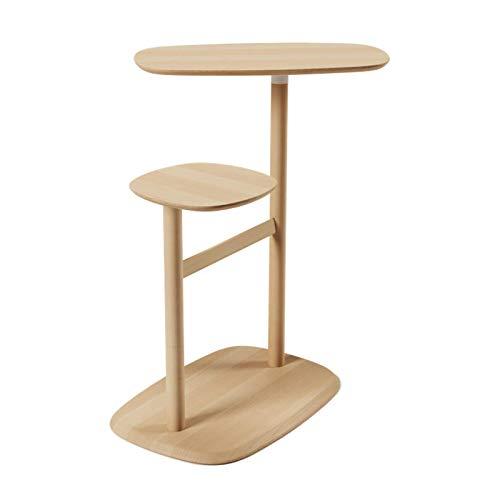 Mesas de decoración de estar para el escritorio de la sala de estar Mesa auxiliar giratoria Mesa auxiliar de madera natural Sofá Mesa de esquina / Mesas pequeñas para sala de estar Mesas decorativa