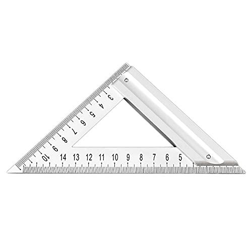 MSEKKO Herramienta Cuadrada Triangular de Aluminio con diseño Cuadrado de Carpintero Profesional con Mango de aleación de Aluminio, Productos Que ahorran Tiempo