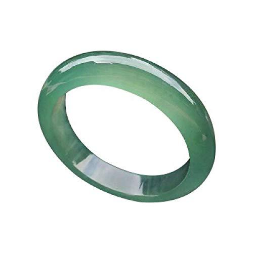 Pulsera de jade para mujer, pulsera de jade, pulsera de jade de color turquesa, pulsera ancha, joyería, para mamá y novia, 50-65 mm, con caja de regalo