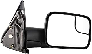 Kool Vue DG44ER Dodge Pickup 1500/2500/3500 Passenger Side Towing Mirror, Power, Heated, Without Puddle Light or Signal, Textured Black