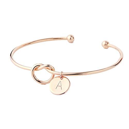 BonTime Brautjungfern Geschenk binden Sie den Knoten einzelne Anfangsbuchstaben personalisierte Reize Armband Bangle Hochzeitsschmuck