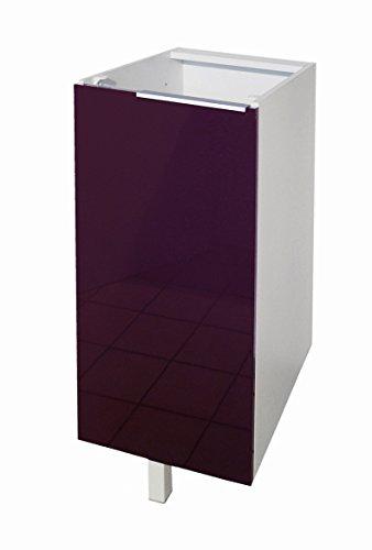 Berlenus CP3BA - Mueble bajo de Cocina con 1 Puerta (30 cm), Color Berenjena Brillante