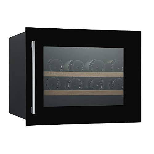 Vinoteca integrable en columna de 45cm W-0455B 28 botellas en cristal negro