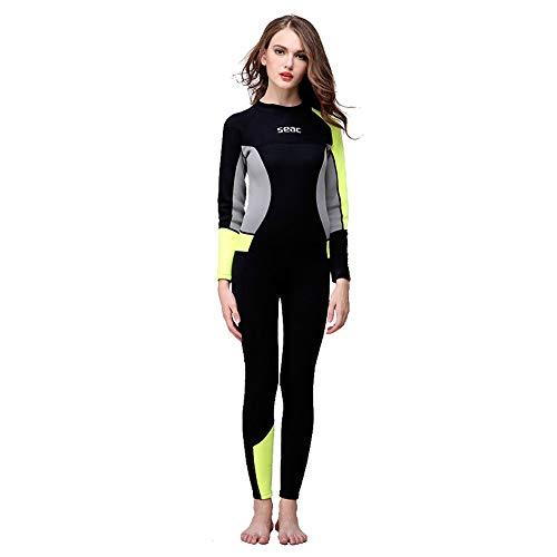 Alikea wetsuit voor duiken, onderwater, 3 mm, Sunblock, dames, zwemmen, Full Bod, trainingspak, sportpak, hoge elasticiteit, sportkleding, beha