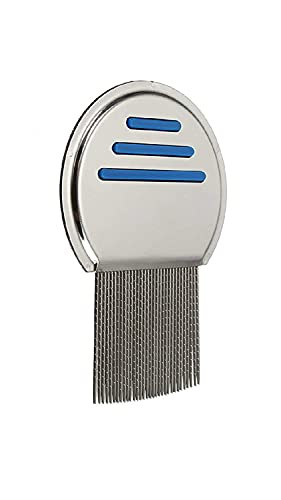 Mapperz Lice Treatment nit Comb with Stainless Steel Metal for lice Egg and nits removal comb for head lice comb | Double Grooved Fine Metal Teeth | Lice Egg Remover Comb for Men, Women & Kids